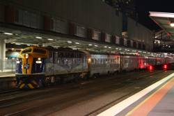B76 about to take the carriage set for The Overland to South Dynon for overnight stabling