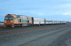 NR10 with the Melbourne bound Overland at Gheringhap