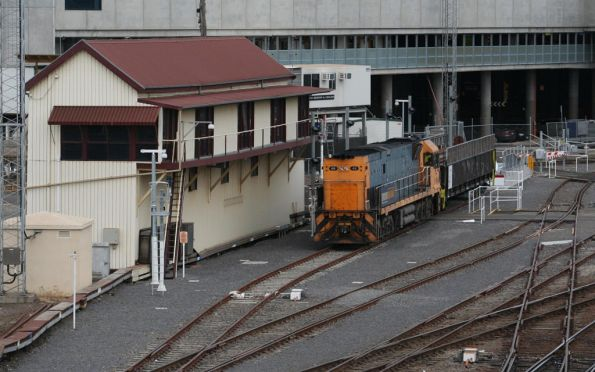 Shunting the wagon into the dock