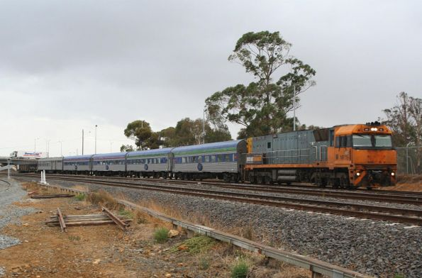 NR116 with the Melbourne bound Overland at North Geelong