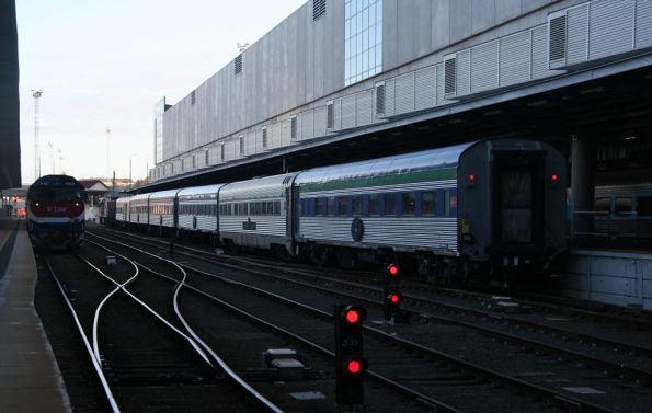 The Overland down to one 1st class car, IP cafe car, and three 2nd class
