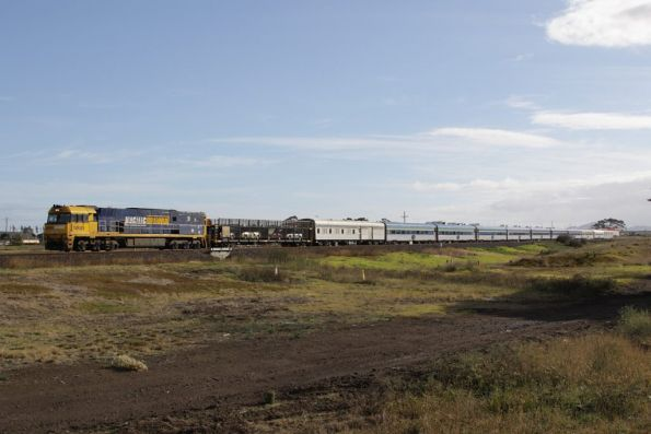 NR49 leads the westbound Overland at Corio
