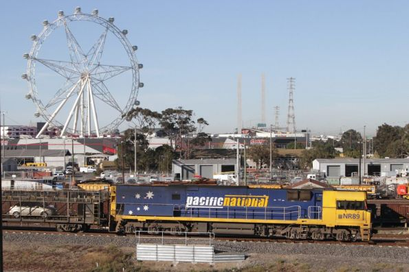 NR89 leads The Overland out of Melbourne