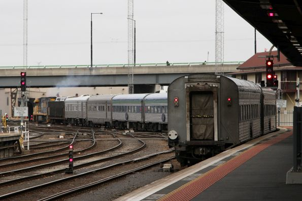 Adelaide bound Overland departs Southern Cross