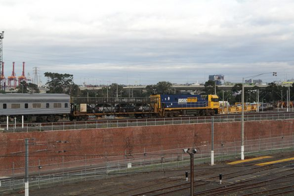 NR93 leads The Overland out of Southern Cross