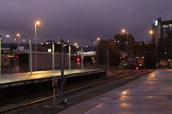 NR38 shunts back onto The Overland consist at Adelaide Parklands Terminal