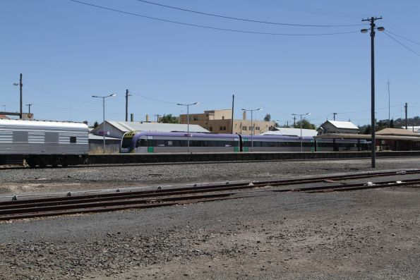 Power van at the rear end of the eastbound Overland at Ararat