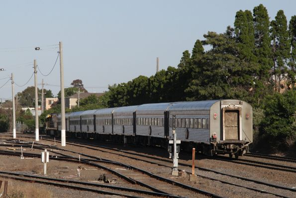 Adelaide-bound Overland passes through West Footscray