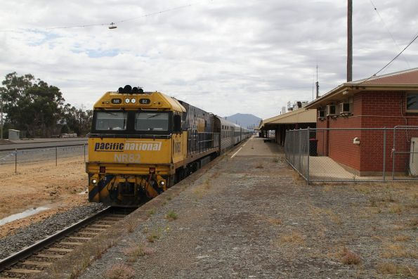 NR82 ready to lead The Overland westbound out of Ararat