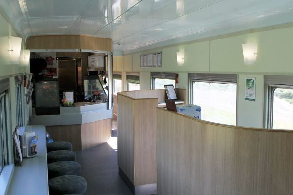 Onboard the usual RBJ cafe car used on The Overland