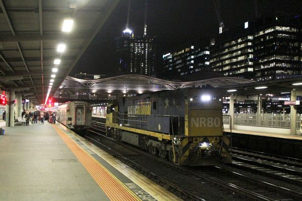 NR80 runs around The Overland at Southern Cross