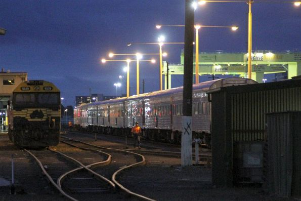 Stabling carriages for The Overland at South Dynon for the night
