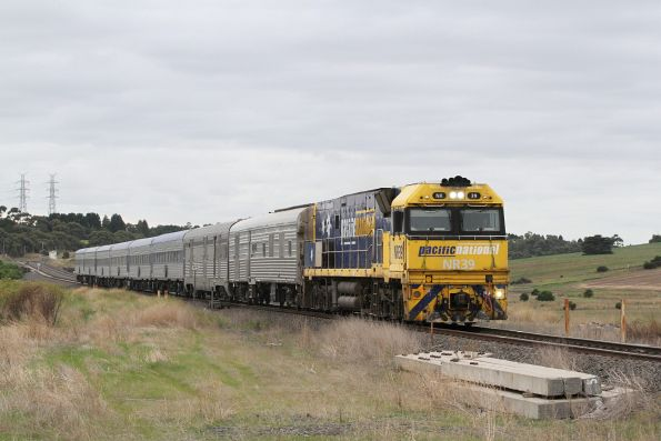 Actually the last ever Overland? NR39 leads the westbound train through Moorabool