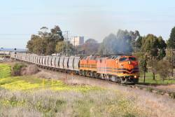 CLP17, GM42, 2210 and 2212 cross Anakie Road on the way west from Geelong