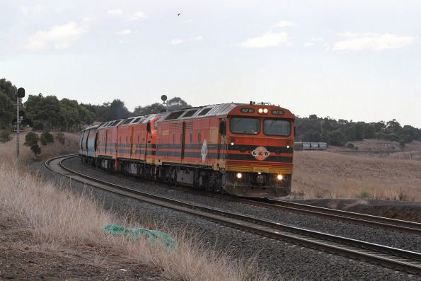 ALF20, CLP17 and ALF18 climb up the grade towards Moorabool, headed home west for South Australia