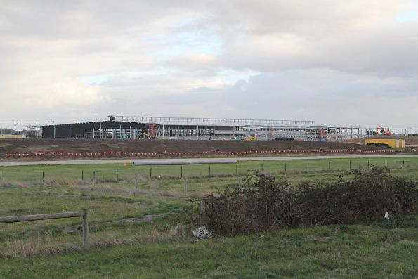 View of the new train maintenance facility from the north-east