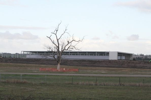 View of the new 'Integrated Test Facility' shed from the north-west