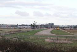View of the new train maintenance facility from the north-west