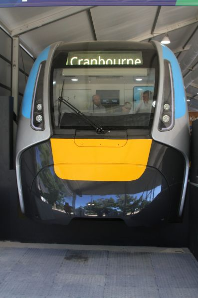Tuesday, 13 February - Cab of the High Capacity Metro Train mockup