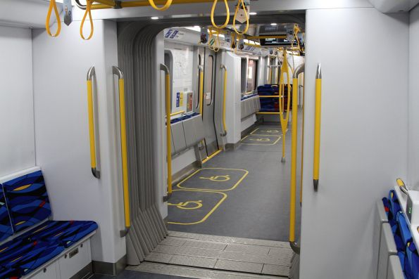Concertina gangway between the two carriages