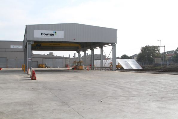 New shed for the High Capacity Metro Trains project at the south end of Newport Workshops