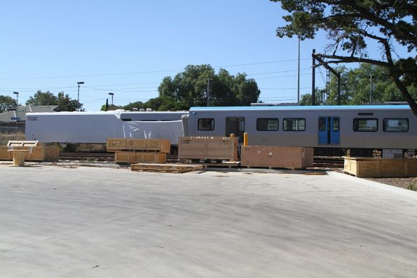 More HCMT carriages in various states of construction sit in the open