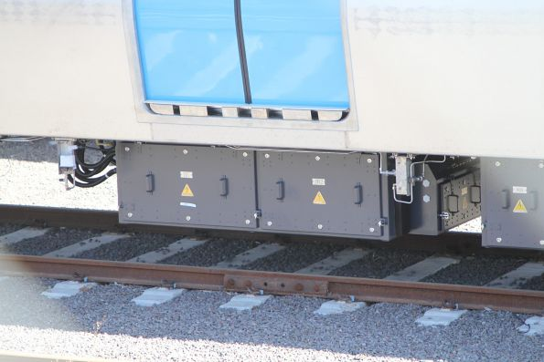 TCU and inverter boxes beneath a MP1 carriage