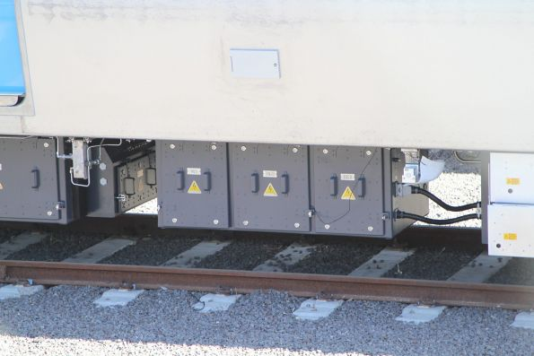 MQS, EM&HD and HSCB boxes beneath a MP1 carriage