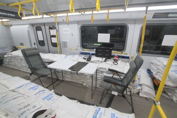 Testing equipment inside the HCMT carriage