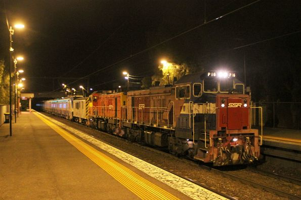 P16 leads P17 on an up HCMT transfer at Seddon