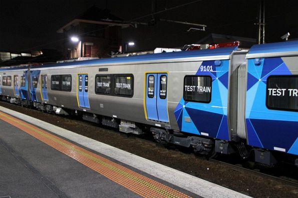 'Mp' carriage 9101 at Footscray