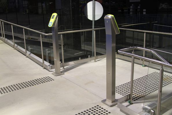 Pair of Myki readers at the secondary exit to the northern car park
