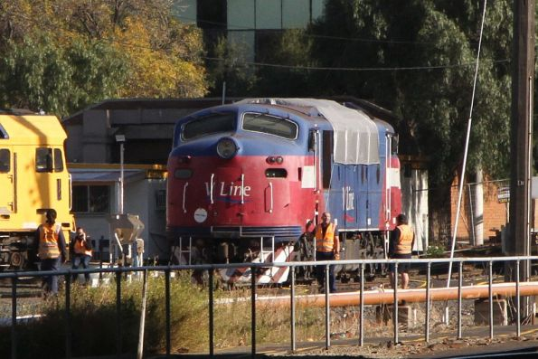 A60 parked in a siding while the locomotives are shuffled around at South Dynon