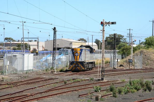 The Hitachi is dropped off at Newport Workshops, and T369 heads home