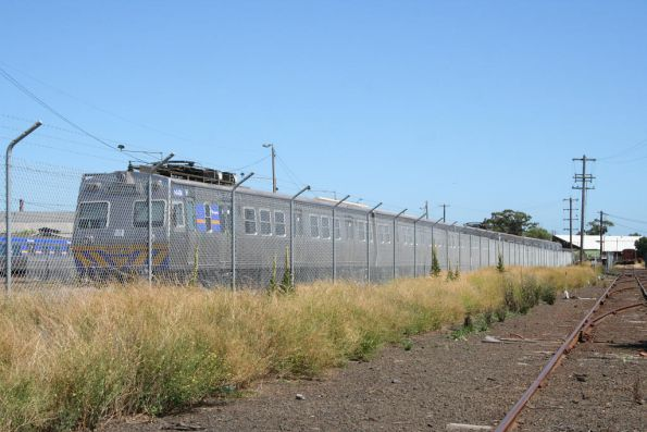 Locked up behind a cyclone fence at Newport