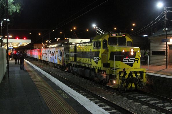 T386 leads the transfer through Newport
