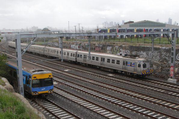 Hitachi 282M leads the train at Footscray