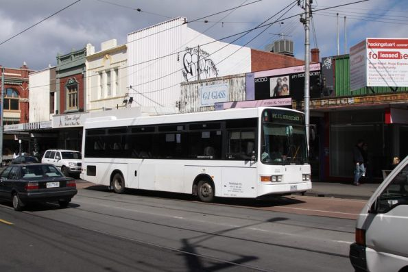Route 509 Hope Street bus heads north up Sydney Road