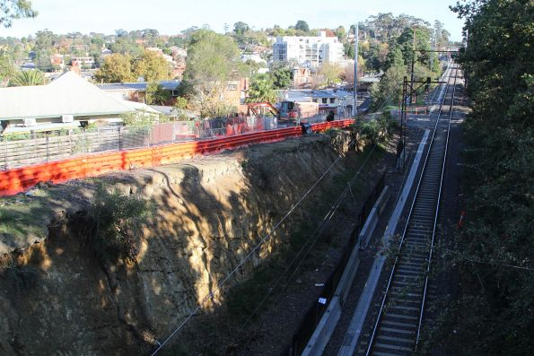 Excavation work underway at the southern portal of the Heidelberg Tunnel