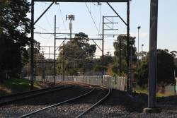 Fencing in place along the tracks between Rosanna and Rosanna Junction