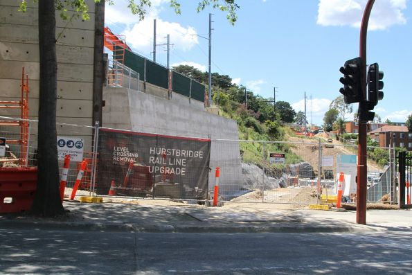 Work underway on a second bridge over Burgundy Street in Heidelberg