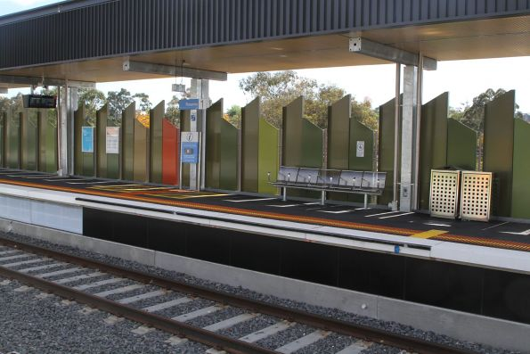 Raised section of platform at the up end of Rosanna station