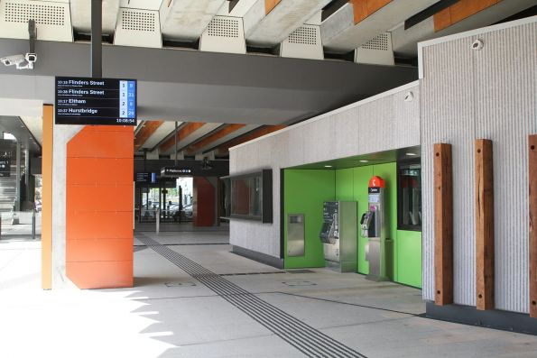Buildings at concourse level at Rosanna station