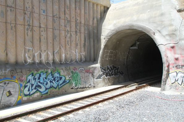 Down end of the new tunnel at Heidelberg