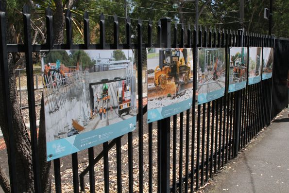 Photos at Macleod station showing recent work on the Heidelberg Rail Line Upgrade project