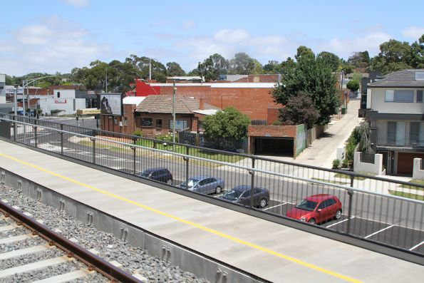 Looking out from the new elevated tracks at Rosanna