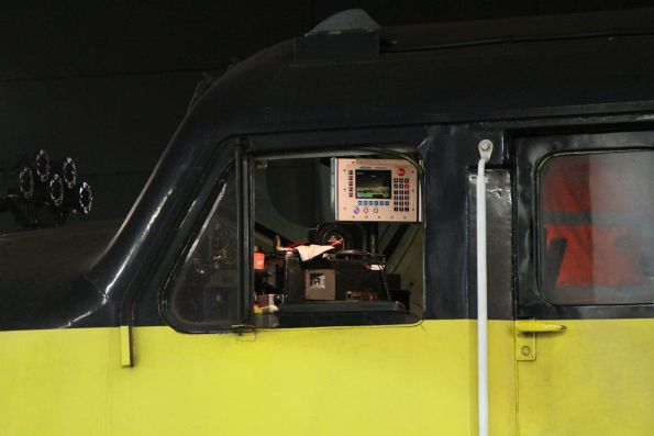 ICE radio equipment in the cab of S317