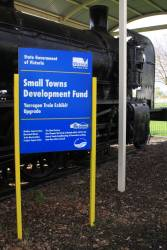 Small Towns Development Fund signboard