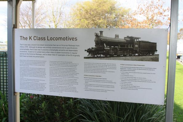 Steam locomotive K183 preserved at Yarragon
