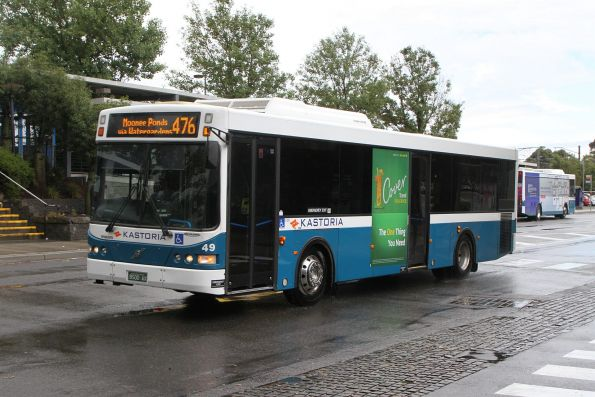 Kastoria bus #49 BS00AX on a route 476 service at Watergardens station